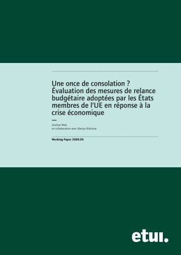Mise en page 1 - European Trade Union Institute (ETUI)