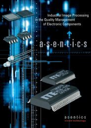 Applications with the industrial image processing system from Asentics