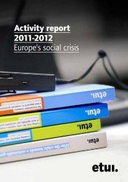 Activity report 2009?2011 Key developments - European Trade ...