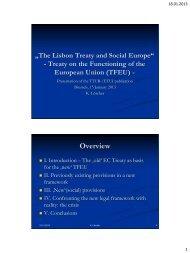 The Lisbon Treaty and Social Europe - European Trade Union ...