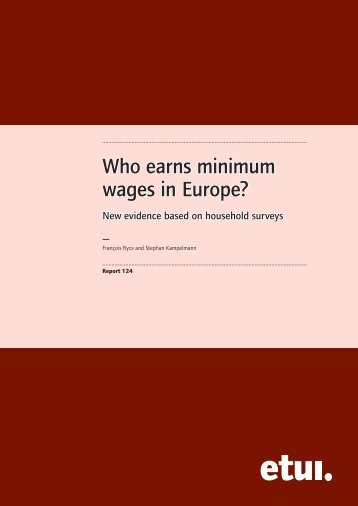 Who earns minimum wages in Europe - European Trade Union ...