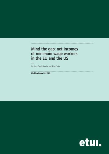 Marx__Mind the Gap ver 6.indd - European Trade Union Institute ...