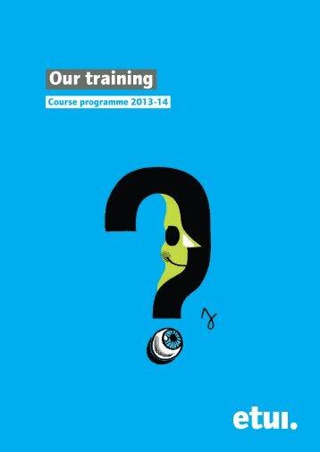ETUI Course programme 2013-2014 - European Trade Union ...