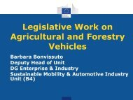 Legislative Work on Agricultural and Forestry Vehicles