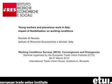 Young workers and precarious work in Italy - European Trade Union ...