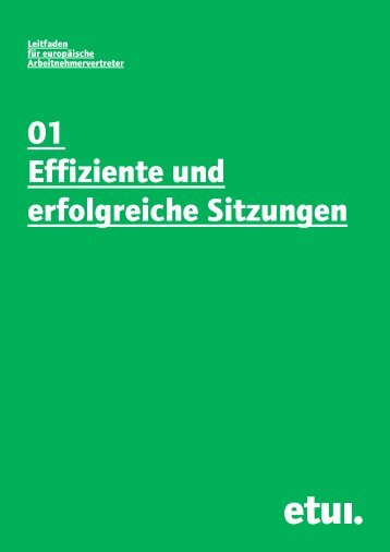 Sitzungen - European Trade Union Institute (ETUI)