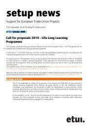 03SetupnewsEN (pdf - 54.38 Kb) - European Trade Union Institute ...