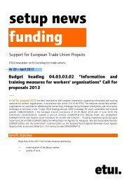 setupnews20en (pdf - 51.45 Kb) - European Trade Union Institute ...