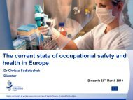 The current state of OSH in Europe (pdf - 688.13 Kb)