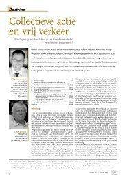 Collectieve actie en vrij verkeer - European Trade Union Institute ...