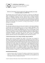 Derogation on Chrysotile Asbestos Diaphragms under Directive ...