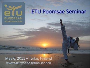 ETU Poomsae Seminar - European Taekwondo Union