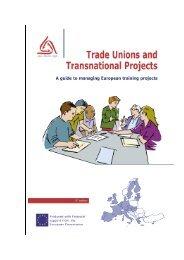 Zwi?zki Zawodowe i Projekty Mi?dzynarodowe - European Trade ...
