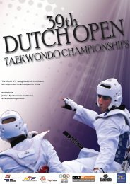 39th DUTCH OPEN TAEKWONDO CHAMPIONSHIPS 2012