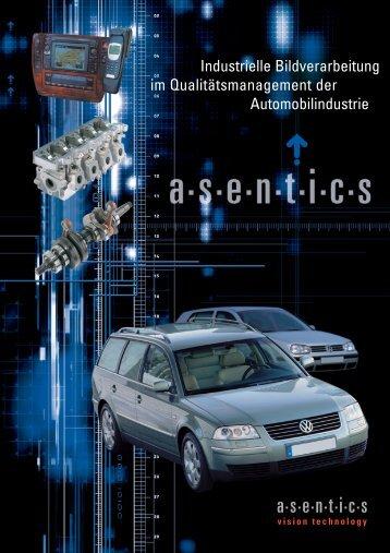 Applikationen mit den industriellen Bildverarbeitungs - Asentics