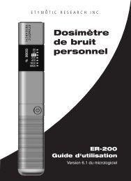 Dosimètre de bruit personnel - Etymotic Research