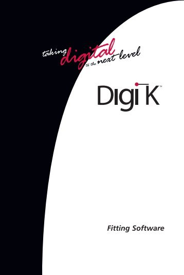 Digi-K Fitting Software Manual - Etymotic Research