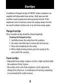 ER-6 ER-6i Isolator Earphones User Manual - Etymotic Research - Page 5