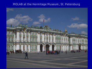 MOLAB at the Hermitage Museum, St. Petersburg - Eu-ARTECH
