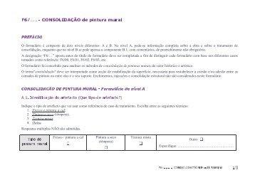 O formulário é composto de dois níveis diferentes: A e ... - Eu-ARTECH