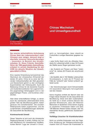Chinas Wachstum und Umweltgesundheit - EU-China Civil Society ...