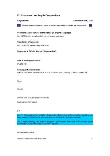 Text - EU Consumer Law Acquis