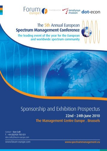 Download the Sponsorship Brochure here - Forum Europe EMS