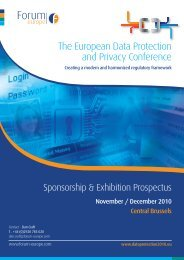 Download the Sponsorship Brochure here. - Forum Europe EMS