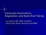 Corporate Governance, Regulation, and Bank Risk Taking