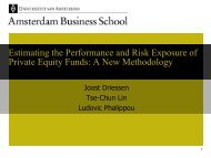 Estimating the Performance and Risk Exposure of Private Equity ...