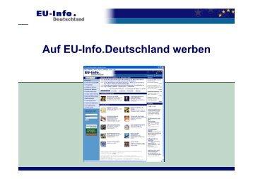Auf EU-Info.Deutschland werben