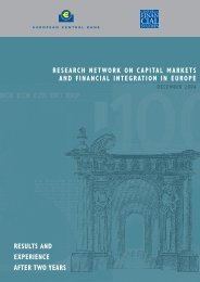 Research network on capital markets and financial integration in ...