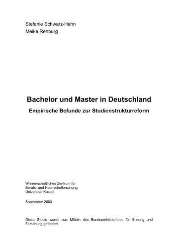 Bachelor und Master in Deutschland – Empirische ... - WissWB-Portal