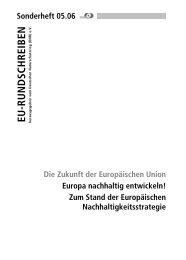 Sonderheft zum EU-Rundschreiben 05.06 - EU-Koordination