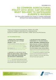 Cap Reform must Safeguard Europe's Waters - EEB