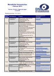 Monatliche Vorausschau - Februar 2013 - EU-Koordination