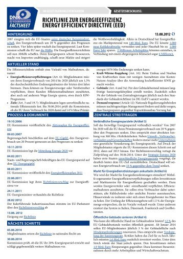 DNR-Factsheet - EU-Koordination