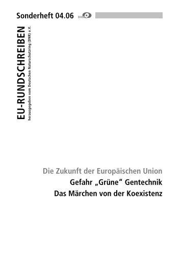 """Gefahr """"Grüne Gentechnik"""" - EU-Koordination"""