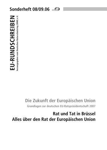 DNR EU-Rundschreiben Sonderteil - EU-Koordination