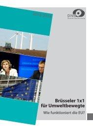 Brüsseler 1x1 für Umweltbewegte - EU-Koordination