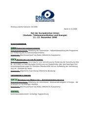 Rat der Europäischen Union (Verkehr ... - EU-Koordination