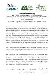 Gemeinsame Erklärung zur Programmplanung 2007-2013 in Sachsen