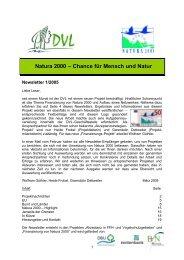 Newsletter 1-2005 - EU-Förderung des Naturschutzes 2007 bis 2013
