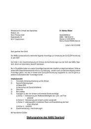 Stellungnahme des NABU Saarland - EU-Förderung des ...