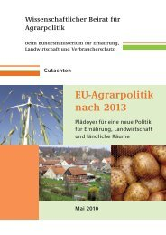 EU-Agrarpolitik nach 2013 - Bundesministerium der Finanzen