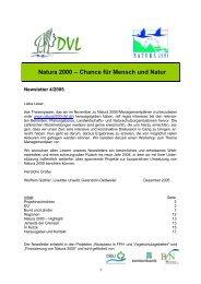 Newsletter 4-2005 - EU-Förderung des Naturschutzes 2007 bis 2013
