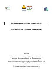 Nachhaltigkeitsindikator für die Artenvielfalt - EU-Förderung des ...