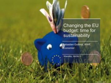 Changing the EU budget: time for sustainability