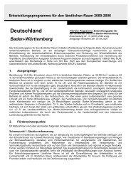 Entwicklungsplan für den ländlichen Raum in Baden-Württemberg