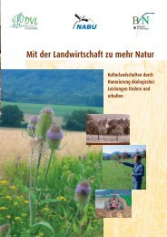 Honorierung ökologischer Leistungen - Bundesamt für Naturschutz